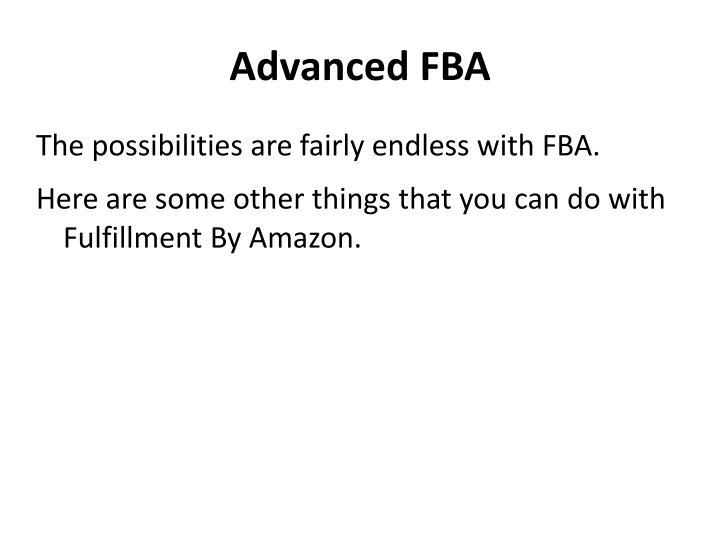 Advanced FBA