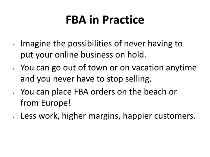 FBA in Practice