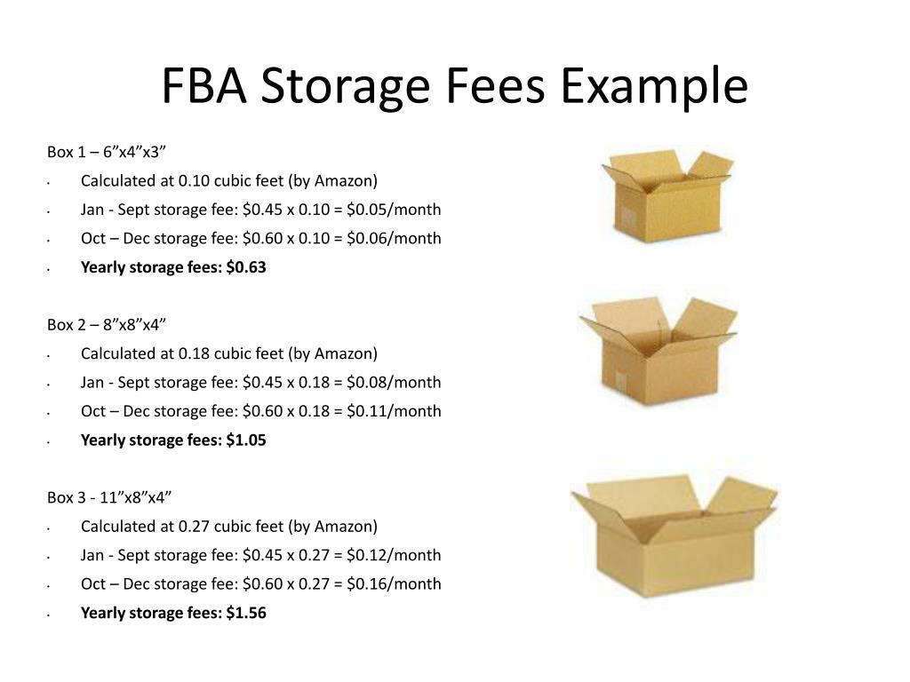 amazon storage fees fba