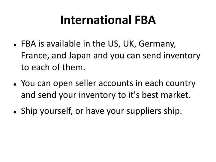 International FBA