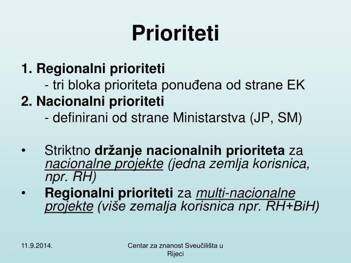 Prioriteti