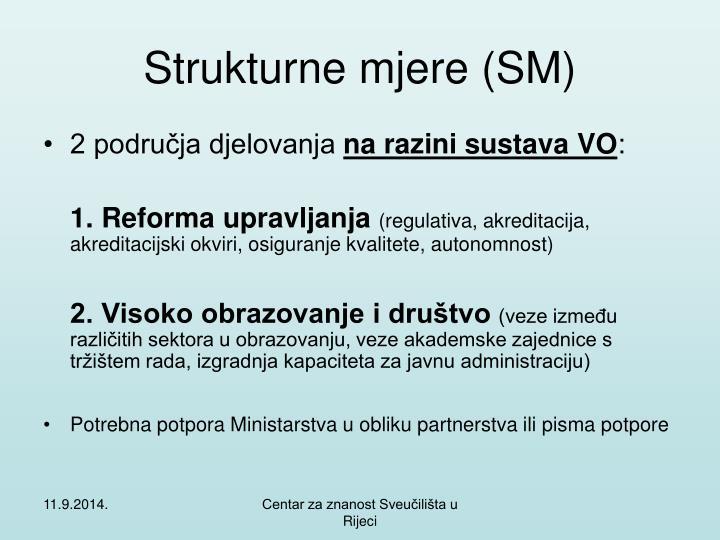 Strukturne mjere (SM)