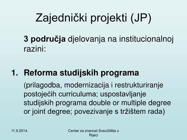 Zajednički projekti (JP)