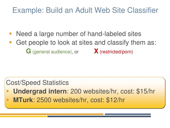 Example build an adult web site classifier