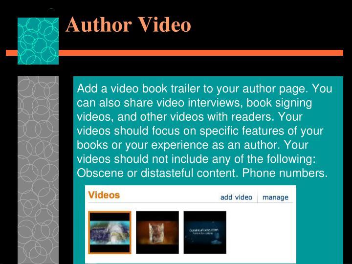 Author Video