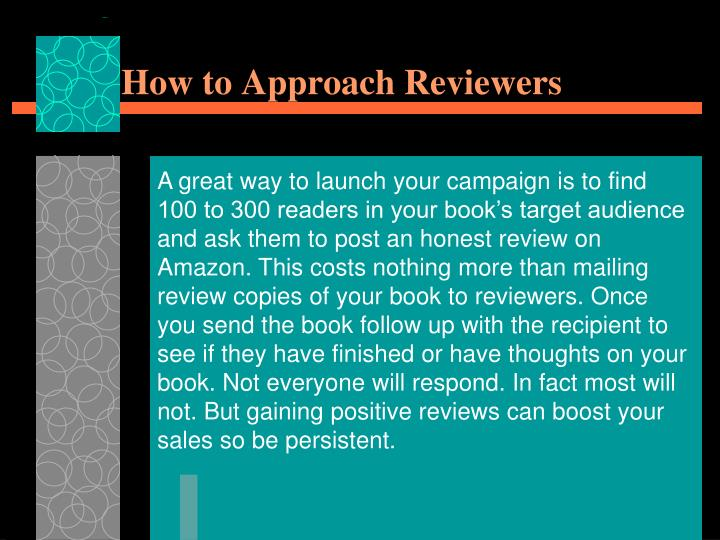 How to Approach Reviewers