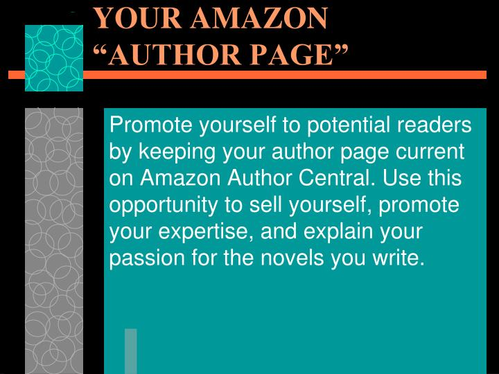 """MANAGE & PROMOTE YOUR AMAZON """"AUTHOR PAGE"""""""