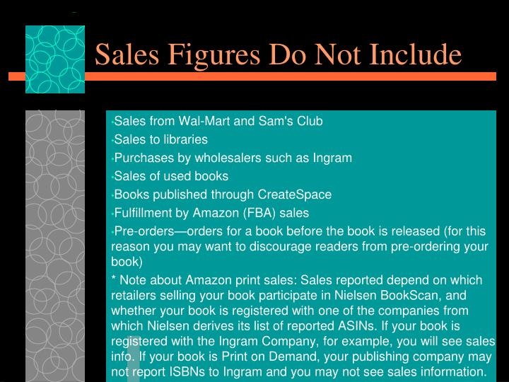 Sales Figures Do Not Include