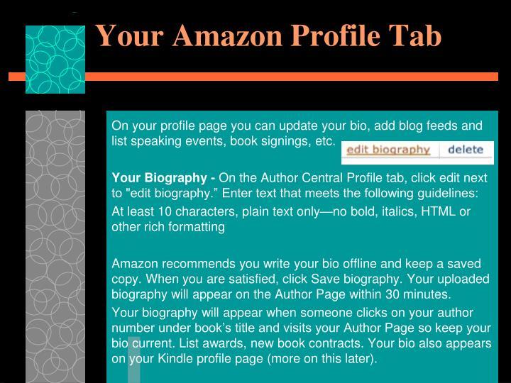 Your Amazon Profile Tab