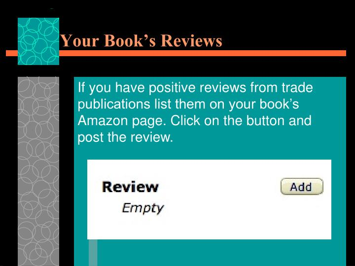 Your Book's Reviews