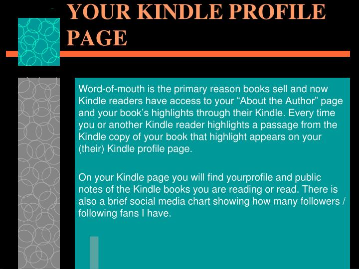 YOUR KINDLE PROFILE PAGE