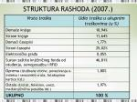 struktura rashoda 2007