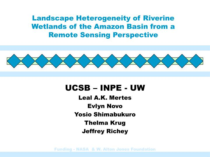 landscape heterogeneity of riverine wetlands of the amazon basin from a remote sensing perspective n.
