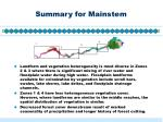 summary for mainstem