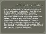 affect of meditation