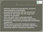 emotional learning