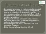environment and behaviour