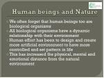 human beings and nature