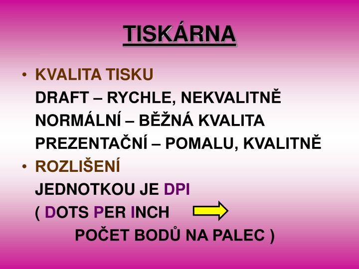 Tisk rna1