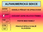 alfanumerick sekce