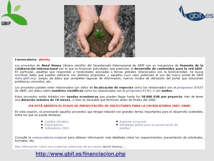 http://www.gbif.es/financiacion.php