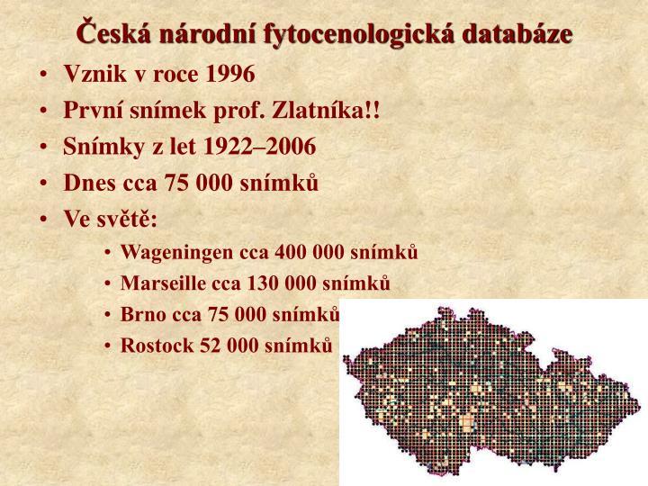 Česká národní fytocenologická databáze