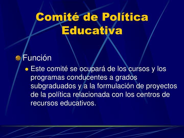 Comité de Política Educativa