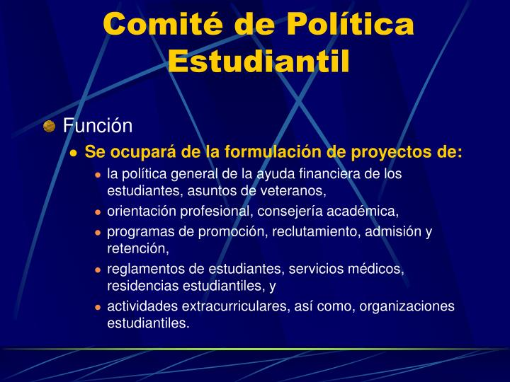 Comité de Política Estudiantil
