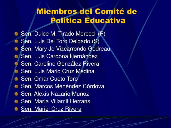 Miembros del Comité de