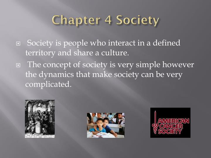 chapter 4 society n.