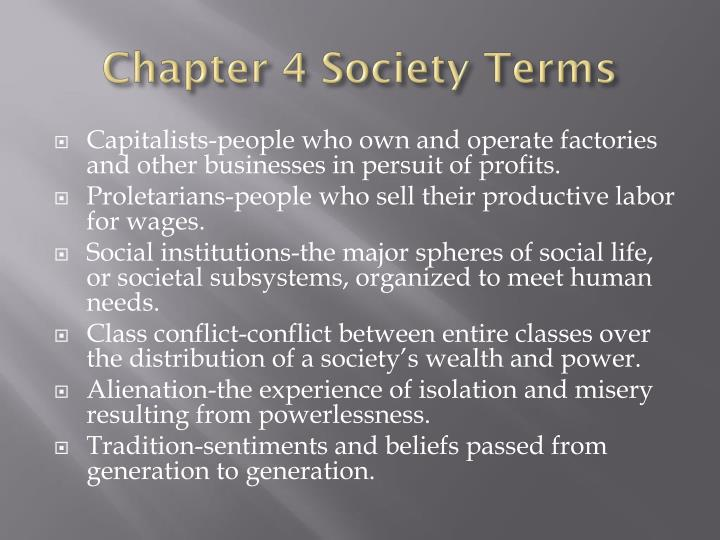 Chapter 4 Society Terms