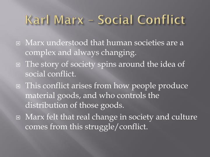 Karl Marx – Social Conflict