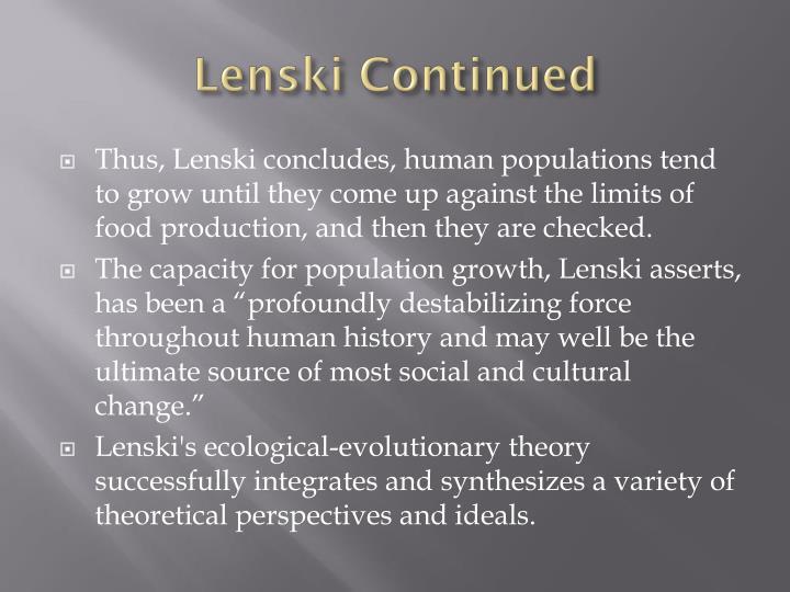 Lenski continued