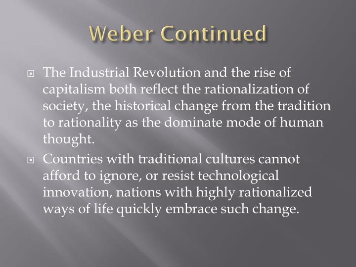 Weber Continued