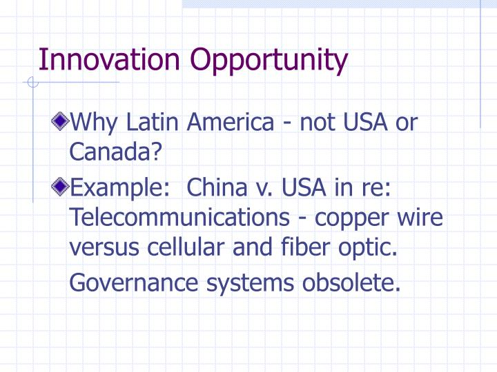 Innovation Opportunity