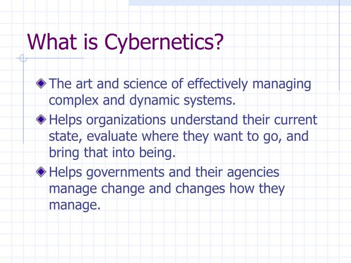 What is Cybernetics?