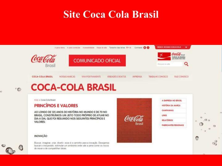 Site Coca Cola Brasil