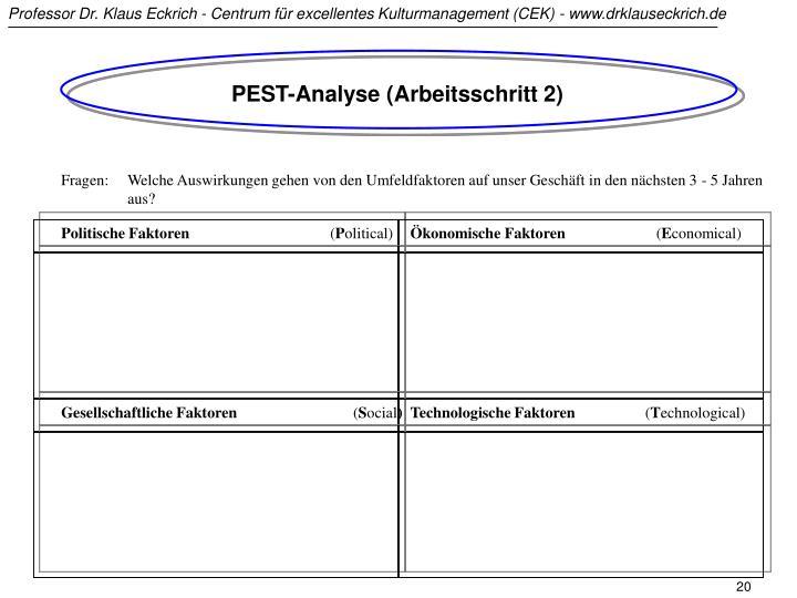 PEST-Analyse (Arbeitsschritt 2)