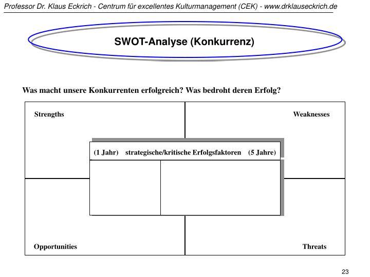 SWOT-Analyse (Konkurrenz)