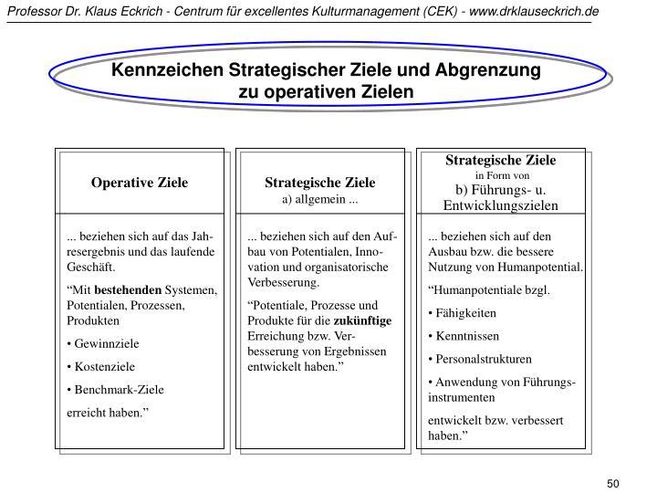 Kennzeichen Strategischer Ziele und Abgrenzung