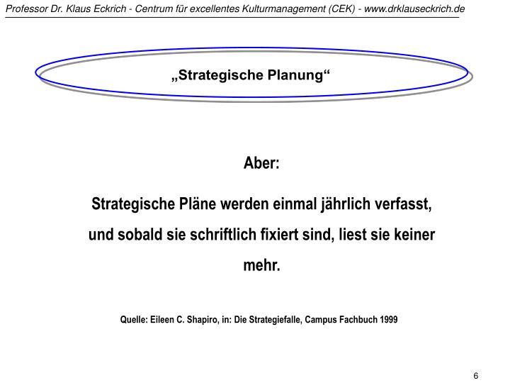 """Strategische Planung"""