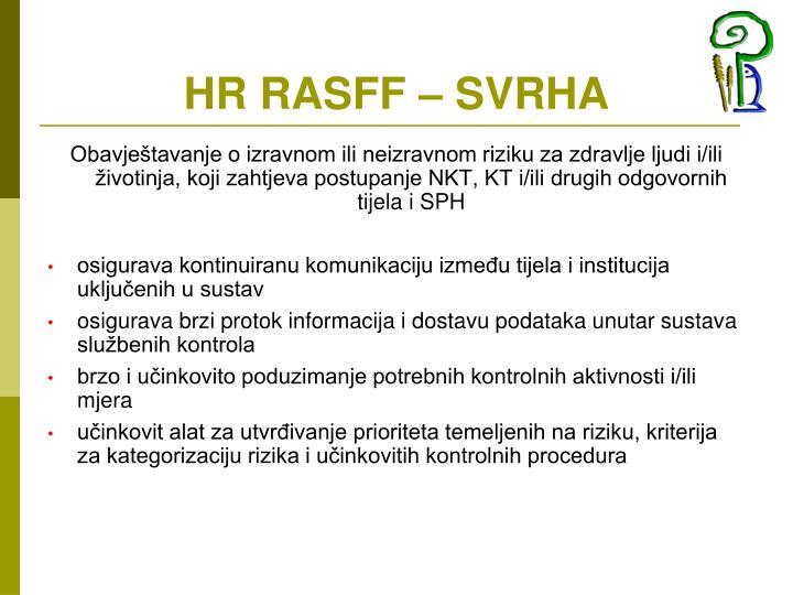 HR RASFF – SVRHA