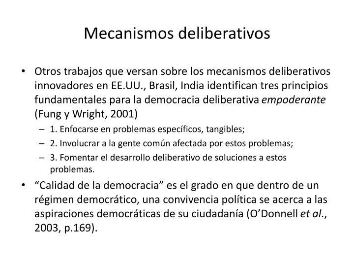 Mecanismos deliberativos