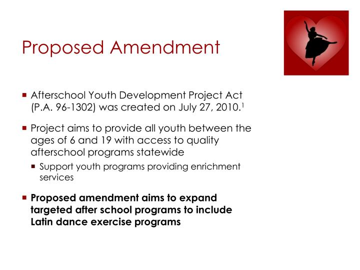 Proposed Amendment