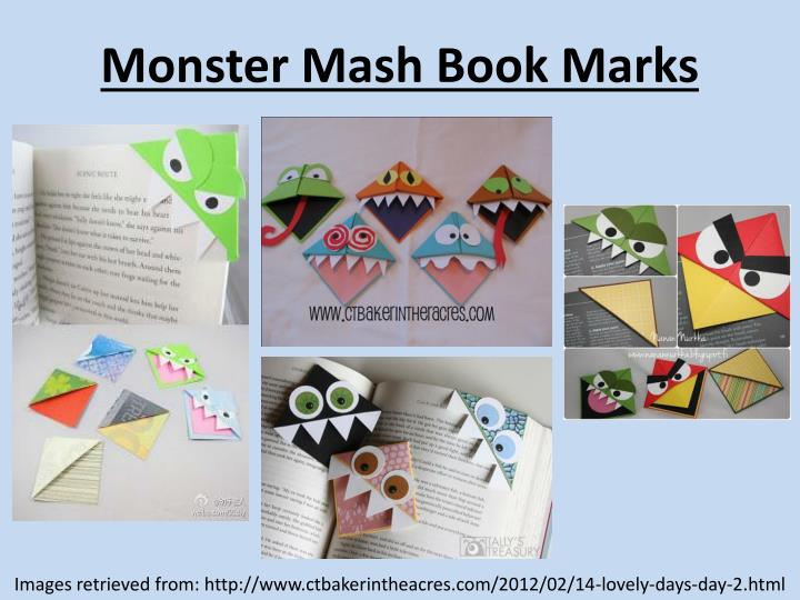 Monster mash book marks
