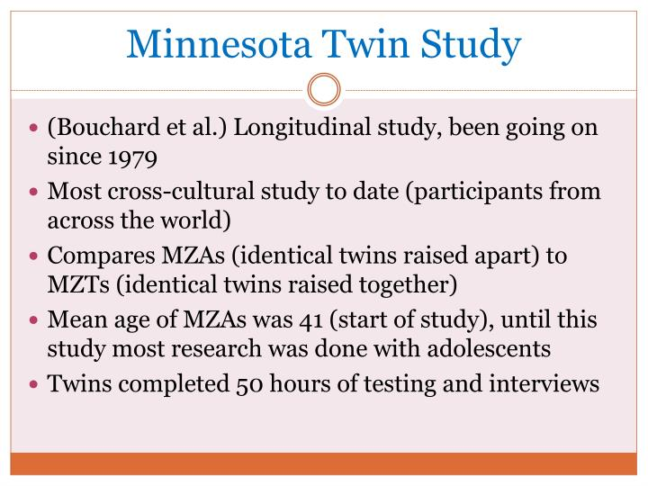 Minnesota Twin Study