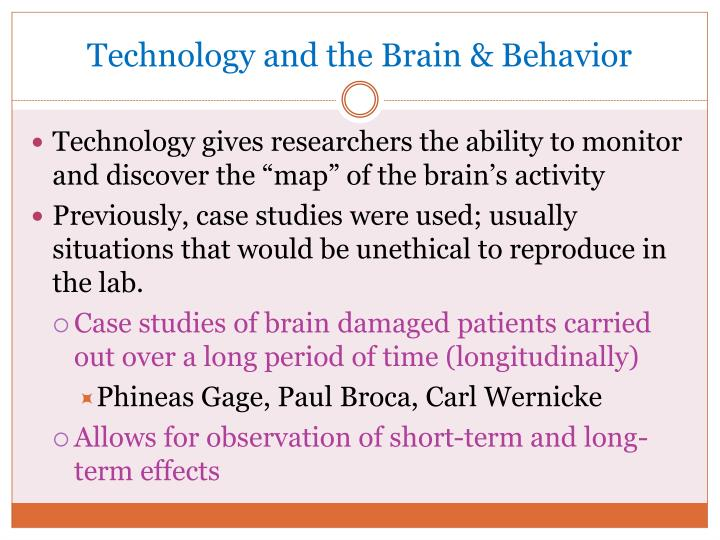 Technology and the Brain & Behavior