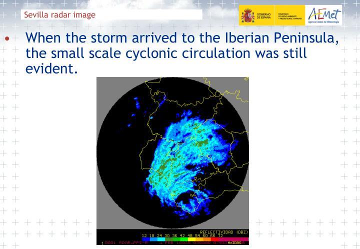 Sevilla radar image