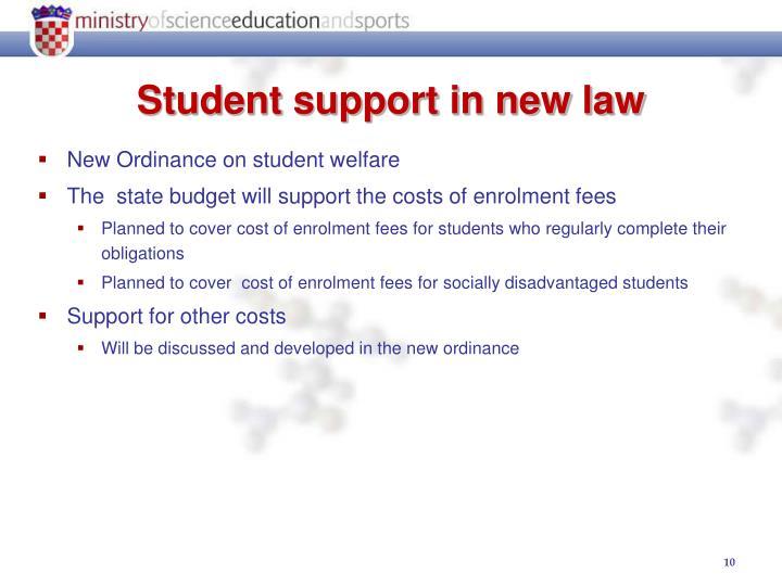 New Ordinance on student welfare