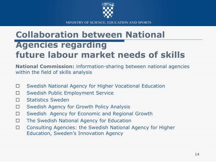 Collaboration between National Agencies regarding